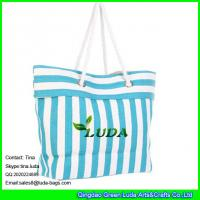 Quality LUDA striped women paper straw handbags for sale