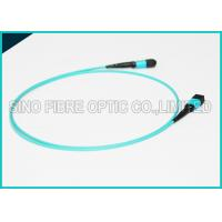 Quality 100Gbps 24 Cores MPO Fiber Optic Cable OM4 Non-pinned Fibre Optical Plenum Jacket Jumper for sale