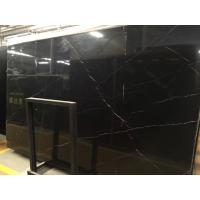 Quality Bathroom Floor Nero Marquina Marble Slab , Nero Marquina Polished Marble Tile for sale
