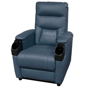 Quality Genuine Leather Home Cinema Seats VIP Sofa With Inclined Cup Holder for sale
