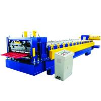 China 0.5-0.8mm Metal Glazed Roof Tile Making Machine , Roof Tile Roll Forming Machine on sale