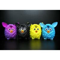 Quality 4 Colour Owl Bird Plastic Toy Figures Lovely Style For Home Decoration for sale