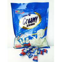 Quality Eco-Friendly 5 In 1 Cube Shaped Tablet Candy Deep In Milk Flavor for sale