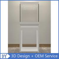 Quality Manufacturer wholesale custom made white color glass display cases for museums for sale