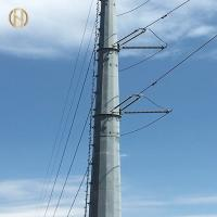Quality 69KV Steel Metal Utility Pole ASTM A 123 Hot Dip Galvanizing High Durability for sale