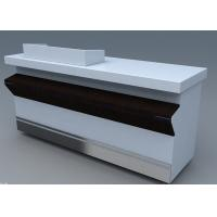 Quality Commercial Steel Edge Retail Shop Counters , Practical Store Checkout Counter for sale
