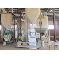China 1t/H Wood Pellet Production Line , Sawdust Pellet Mill 12-120 Rpm Feeder Auger Speed on sale