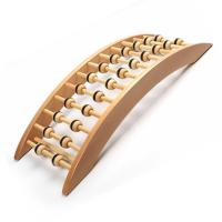 Quality Natural Wooden Electric Back Massager Eco Friendly Material Increases Blood Circulation for sale