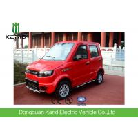 Quality Red Color Four Seater Electric Car , Economic Smart Fully Electric Vehicles for sale
