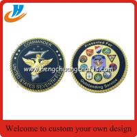Quality 2017 new design challenge coins/65mm military coins cheap custom for sale
