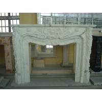 Quality Contemporary Natural Stone Fireplaces / White Marble Fireplace Customized Shape for sale