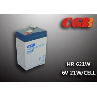 Quality HR621W 5AH 6V SLA Battery , High Rarte Sealed lead acid deep cycle battery for sale