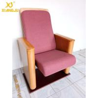 Quality Customized Metal Floor Mounted Polywood Stand Theater Chairs For Church Halls for sale
