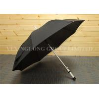 Quality Wind Releasing Straight Handle Umbrella For Business Men Black Coated Metal Frame for sale