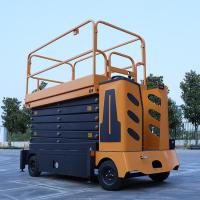 Buy Automatic Mobile Scissor Lift Platform Self Propelled Battery Powered at wholesale prices