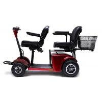 Quality Two seats Electric Mobility Travel Scooter For Elder , Handicapped Folding Electric scooter 125*68*96cm 210kg for sale
