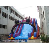 China Kids Favorite Bouncy Water Slide And Bounce House Combo , Air Water Slide Logo Printable on sale