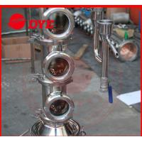 Quality Tri-Clamp Micro Copper Ethanol Distillation Column Sight Glass for sale
