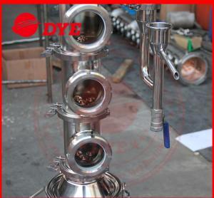 Quality Tri-Clamp Micro Copper Ethanol Distillation Column Sight Glass for sale