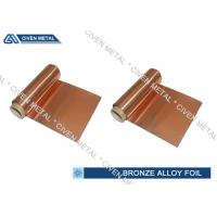 Quality ISO Standard Phosphor Bronze Foil / Alloy Foils with protective Surface coatings for sale