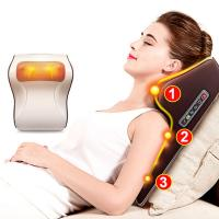 Quality Light Brown Electric Back Massager Gross Weight 1.5KG With 16 Massage Balls for sale