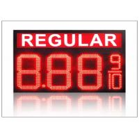 Quality IP68 LED Gas Station Sign / 4 digits number display with 110° Viewing angle , steel shell for sale
