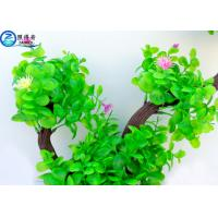 Buy Two Branch Plastic Tree Artificial Aquarium Plants With Small Flowers For Decoration at wholesale prices