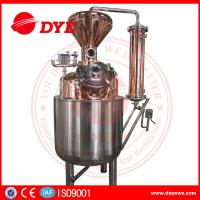 Quality 400L Steam Copper Gin Column Whisky Distillation Equipment With Water Tank for sale