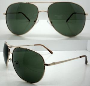 Quality Classical Half Metal Frame Sunglasses , Black Reflective SunGlasses for sale