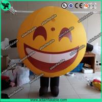 Quality Advertising Happy Face Inflatable QQ Inflatable Customized Walking Smile Ball Costume for sale