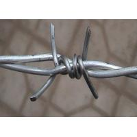 Quality Double Twisted Barbed Iron Wire Wrapped For Security Fence , 1.6mm- 3.0mm Dia for sale