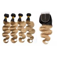 Quality 1B / 27 Color Body Wave Hair Bundles With Closure Can Be Bleached And Dyed for sale