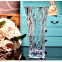 China Clear Castle Decorative Glass Vases Stock Handwash Classical Type For Flower on sale