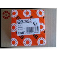 Quality Single Row Deep Groove Ball Bearings ABEC3 6206 Bearing With Two Rubber Seals for sale