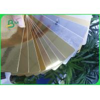 Quality 275GSM Aluminum foil Gold / Silver paper Card for Super gift package for sale