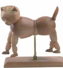 Quality Vivid Craft Artist Wooden Manikin Dog / Cat Mannequin Good Design for sale