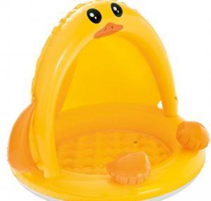 China Portable Inflatable Baby Duck Pool Yellow PVC Animal Shape 40 X 32.5 on sale