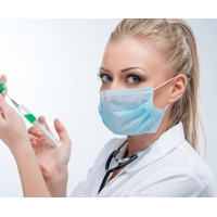 China Biodegradable Non Woven Disposable Surgical Mask To Prevent Flu on sale