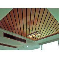 Quality Waterproof Suspended Ceiling Panel / WPC Composite Decking 100mm * 25mm for sale