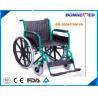 Quality BM-2008/FS901B Green Best Selling Steel Frame Economic Detechable Footrest Wheelchair  PU Castor Wheelchair for sale