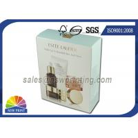Quality Foldable Paper Cosmetic Packaging Box with Gold Foil Embossing Logo for sale