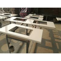 Quality Super White Nano 3 Crystallized Glass Top Kitchen Table For Home / Restaurant / Hotel for sale
