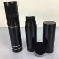 Quality 15ml 30ml 50ml a series black  cosemtic airless bottle for men's skincare for sale