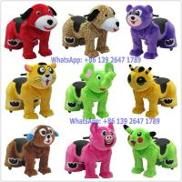 Quality China Factory Battery Coin Operated Stuffed Animal Toy Cars Walking Rides For Children for sale