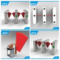 Quality Anti Collision Anti Rushing Half Height Turnstile Flap Barrier Gate Used In Subway Bus Stration for sale