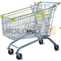 China Commercial Supermarket Grocery Shopping Cart 180 Litres Volume With EVA + PP Wheel on sale
