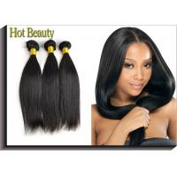 Quality Natural Black Remy Virgin Human Hair Extensions Straight Type for sale
