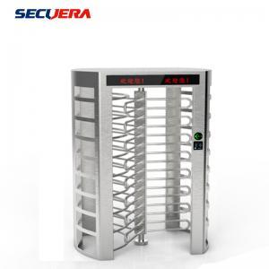 China Full Height Security Electronic Fingerprint Reader Single Channel Turnstile Barrier Gate on sale