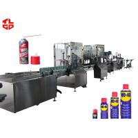 Quality Stainless Steel Anti Rust Aerosol Filling Equipment And Crimping Machine for sale