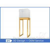 Buy S/ S Jewelry Pedestal Display Case / Free Standing Jewelry Tower Showcase at wholesale prices